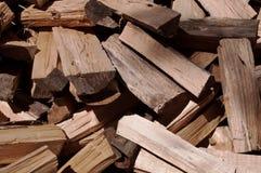 Ciérrese para arriba de la madera cortada en una pila Fotografía de archivo libre de regalías