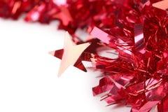 Ciérrese para arriba de la malla del rojo de la Navidad. Imagen de archivo