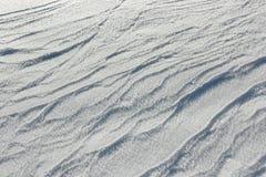 Ciérrese para arriba de la nieve blanca Imagen de archivo libre de regalías