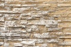 Ciérrese para arriba de la pared de ladrillo envejecida Foto de archivo libre de regalías