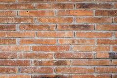 Ciérrese para arriba de la pared de ladrillo sucia vieja Imagen de archivo