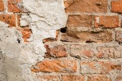 Ciérrese para arriba de la pared de ladrillo vieja Imagen de archivo libre de regalías