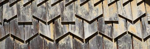 Ciérrese para arriba de la pared de madera Fotografía de archivo