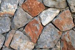 Ciérrese para arriba de la pared de piedra fotos de archivo libres de regalías