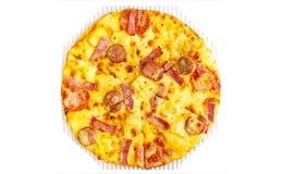 Ciérrese para arriba de la pizza de queso Fotos de archivo