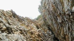 Ciérrese para arriba de la sección de la roca almacen de video