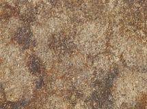 Ciérrese para arriba de la superficie de un marrón y de una roca coloreada moho Imagenes de archivo
