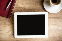 Ciérrese para arriba de la tableta Foto de archivo