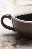 Ciérrese para arriba de la taza de café grande foto de archivo