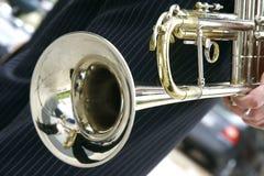 Ciérrese para arriba de la trompeta Fotos de archivo libres de regalías