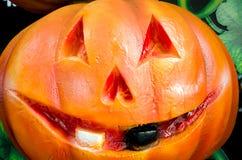 Ciérrese para arriba de las calabazas para Halloween Imagen de archivo libre de regalías