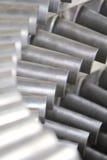 Ciérrese para arriba de las cuchillas de turbina Fotografía de archivo libre de regalías