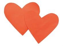 Ciérrese para arriba de las dimensiones de una variable de papel del corazón Imagen de archivo libre de regalías
