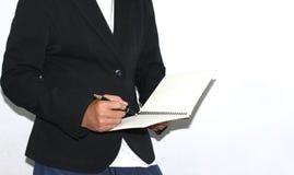 Ciérrese para arriba de las manos de un hombre de negocios Foto de archivo libre de regalías