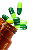 Ciérrese para arriba de las píldoras aisladas Fotos de archivo