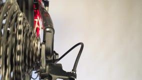 Ciérrese para arriba de las ruedas de engranaje almacen de video