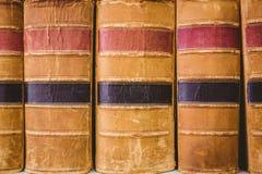 Ciérrese para arriba de libros viejos Imágenes de archivo libres de regalías
