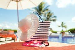 Ciérrese para arriba de los accesorios del verano Foto de archivo