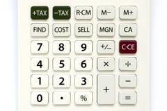 Ciérrese para arriba de los botones del cálculo Fotografía de archivo libre de regalías