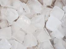 Ciérrese para arriba de los cubos de hielo Imagen de archivo