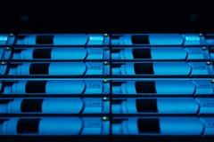 Ciérrese para arriba de los discos duros que son utilizados para recoger la información Fotos de archivo