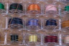 Ciérrese para arriba de los hilos de la bobina Fotografía de archivo libre de regalías