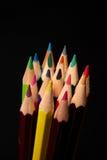 Ciérrese para arriba de los lápices del color Imagen de archivo