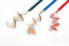Ciérrese para arriba de los lápices del color con diverso color. Foto de archivo libre de regalías