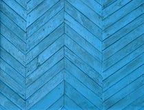 Ciérrese para arriba de los paneles de madera azules de la cerca Fotografía de archivo libre de regalías