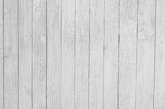 Ciérrese para arriba de los paneles de madera blancos de la cerca Foto de archivo libre de regalías