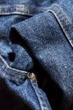 Ciérrese para arriba de los pantalones del dril de algodón Fotografía de archivo