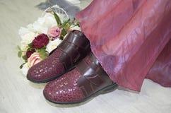 Ciérrese para arriba de los pies Mujer de moda Foto de archivo