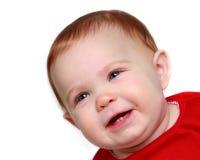 Ciérrese para arriba de los primeros dientes del bebé Fotos de archivo libres de regalías