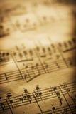 Ciérrese para arriba de música de hoja Foto de archivo libre de regalías
