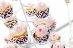 Ciérrese para arriba de magdalenas deliciosas Fotografía de archivo libre de regalías