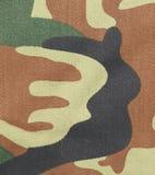 Ciérrese para arriba de modelo del camuflaje. Foto de archivo