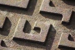 Ciérrese para arriba de modelo del ` de G del ` de la cubierta del dren Imagenes de archivo