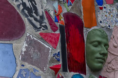 Ciérrese para arriba de mosaicos, de esculturas y de espejos Foto de archivo libre de regalías