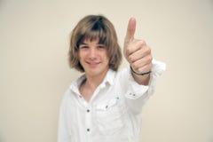 Ciérrese para arriba de muchacho adolescente Fotos de archivo