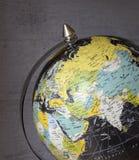 Ciérrese para arriba de Oriente Medio en el globo Imagenes de archivo