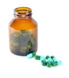 Ciérrese para arriba de píldoras Foto de archivo libre de regalías