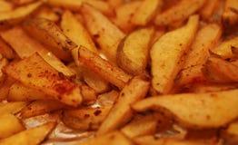 Ciérrese para arriba de patatas fritas Imagenes de archivo