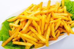 Ciérrese para arriba de patatas fritas Imagen de archivo