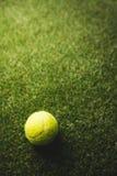 Ciérrese para arriba de pelota de tenis Imágenes de archivo libres de regalías