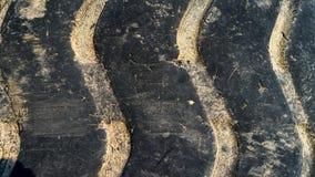 Ciérrese para arriba de pisada del neumático Foto de archivo
