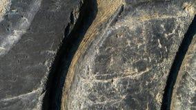 Ciérrese para arriba de pisada del neumático Fotos de archivo
