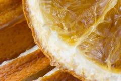 Ciérrese para arriba de rebanadas anaranjadas secadas Fotos de archivo