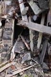 Ciérrese para arriba de ruinas fotografía de archivo