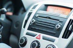 Ciérrese para arriba de tablero de instrumentos del coche o del ordenador a bordo Foto de archivo libre de regalías