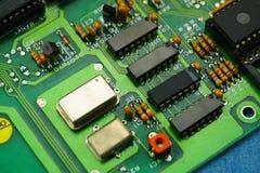 Ciérrese para arriba de tarjeta de circuitos de ordenador foto de archivo